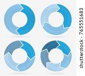 info template pie charts blue... | Shutterstock .eps vector #765551683