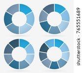 info template pie charts blue... | Shutterstock .eps vector #765551689