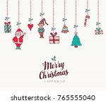 merry christmas and happy new... | Shutterstock .eps vector #765555040