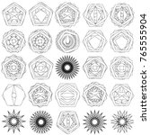 holiday patterns of stars of...   Shutterstock .eps vector #765555904