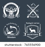 hunting club or hunt adventure... | Shutterstock .eps vector #765556900