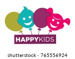 kids zone logo template of... | Shutterstock .eps vector #765556924