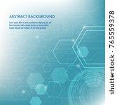minimal design  the hexagonal... | Shutterstock .eps vector #765559378