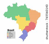 brazil map of circle shape with ... | Shutterstock .eps vector #765560140