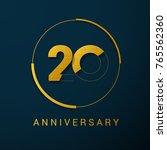 20 year anniversary vector logo ... | Shutterstock .eps vector #765562360