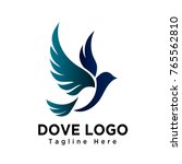 art dove bird flying logo | Shutterstock .eps vector #765562810