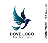 art dove bird flying logo   Shutterstock .eps vector #765562810