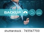 backup storage data internet... | Shutterstock . vector #765567703