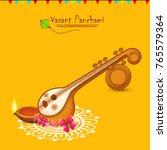indian festival vasant panchami ... | Shutterstock .eps vector #765579364