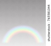 transparent rainbow arc on the... | Shutterstock .eps vector #765581344