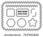 vector set of hand drawn doodle ... | Shutterstock .eps vector #765581860