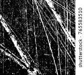 grunge black and white pattern... | Shutterstock .eps vector #765583510