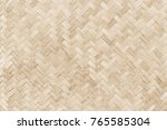 old bamboo weaving pattern ... | Shutterstock . vector #765585304