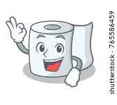 okay tissue character cartoon... | Shutterstock .eps vector #765586459
