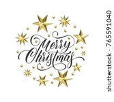 merry christmas golden... | Shutterstock .eps vector #765591040