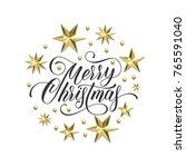 merry christmas golden... | Shutterstock .eps vector #765591040