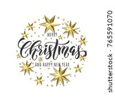 merry christmas or happy new... | Shutterstock .eps vector #765591070
