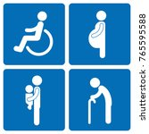 socially vulnerable pictogram... | Shutterstock .eps vector #765595588