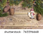christmas background with... | Shutterstock . vector #765596668
