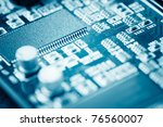 close up of electronic circuit... | Shutterstock . vector #76560007