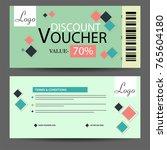 creative discount voucher  gift ... | Shutterstock .eps vector #765604180