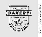 bakery logo vintage emblem... | Shutterstock .eps vector #765604258