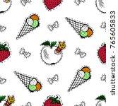 kids  cartoon seamless pattern. ... | Shutterstock .eps vector #765605833