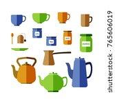 colored flat design  vector set ... | Shutterstock .eps vector #765606019