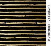 black and gold striped pattern. ... | Shutterstock .eps vector #765606244