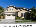 single family house  with two... | Shutterstock . vector #765607570