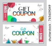 creative discount voucher  gift ...   Shutterstock .eps vector #765609049