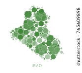 abstract map of iraq filled... | Shutterstock .eps vector #765609898