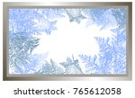 2018 new year on ice frosted...   Shutterstock .eps vector #765612058