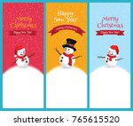 christmas greeting card with... | Shutterstock .eps vector #765615520