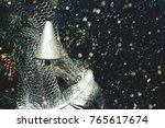 silver colored bell on...   Shutterstock . vector #765617674