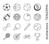 sport line icon set vector | Shutterstock .eps vector #765623944