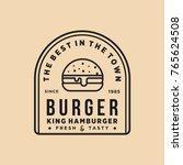 burger vintage premium quality... | Shutterstock .eps vector #765624508