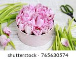 florist at work. how to make...   Shutterstock . vector #765630574