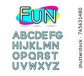 fun font neon color | Shutterstock .eps vector #765631480