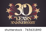 30 years anniversary vector... | Shutterstock .eps vector #765631840