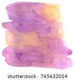 abstract violet watercolor... | Shutterstock . vector #765632014