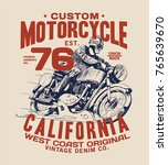vintage style tee print design... | Shutterstock .eps vector #765639670
