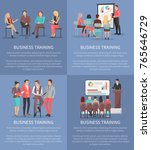 set of business meeting... | Shutterstock .eps vector #765646729
