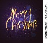 merry christmas. bright poster...   Shutterstock .eps vector #765646924