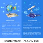 geography and astronomy... | Shutterstock .eps vector #765647158