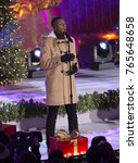 Small photo of New York, NY - November 29, 2017: Singer Matt Sallee of the acappella group Pentatonix performs during the 85th Rockefeller Center Christmas Tree Lighting at Rockefeller Center hosted by NBC
