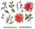 watercolor set isolated... | Shutterstock . vector #765649663