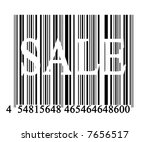 barcode on solid white... | Shutterstock . vector #7656517