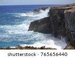 dangerous steep cliffs with...   Shutterstock . vector #765656440