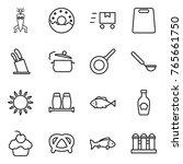 thin line icon set   dna modify ... | Shutterstock .eps vector #765661750